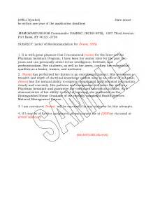Army Letter Template Military Letter Of Recommendation Examples Free Cover Letter