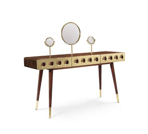 copper room decor essential home mid century furniture monocles dressing table essential home mid century