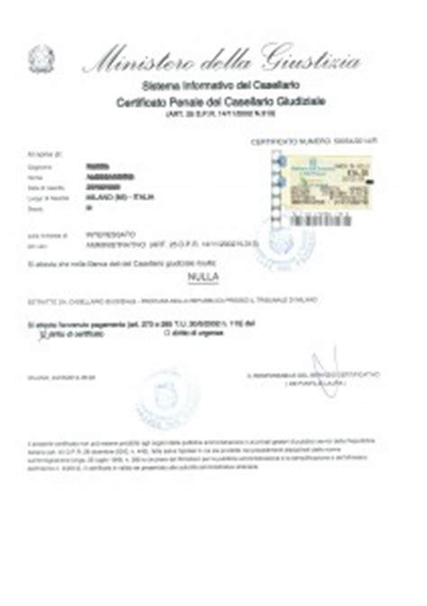 chi rilascia permesso di soggiorno il certificato casellario giudiziale italian