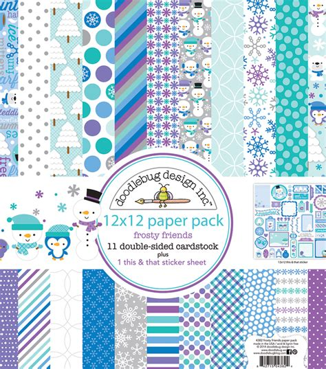doodlebug scrapbooking doodlebug frosty friends scrapbooking kit 12 x12 jo