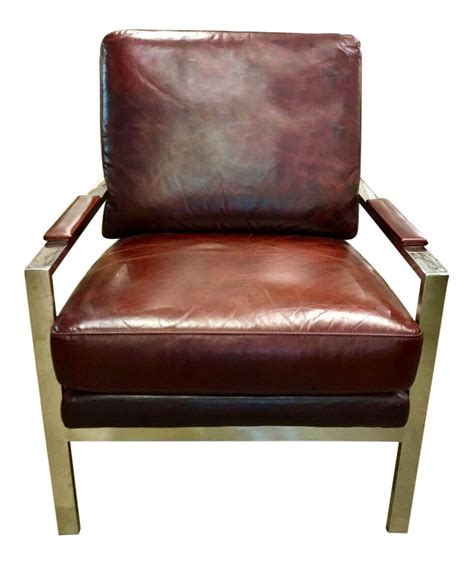 Mid Century Leather Lounge Chair by Mid Century Leather Lounge Chair Pair Available Chairish