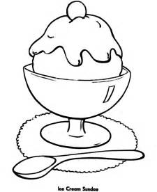 shapes coloring pages printable ice cream sundae easy