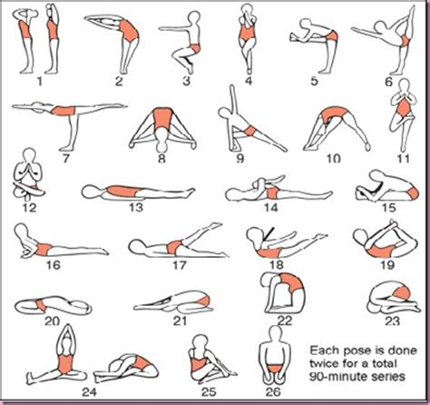 free printable yoga poses focus on bikram yoga