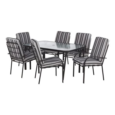 Patio Chairs Bunnings Marquee 7 Cushioned Steel Outdoor Setting I N