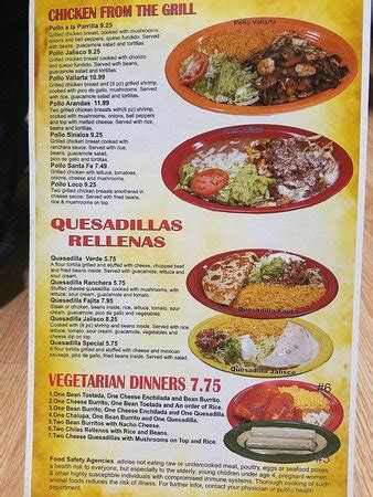 Knob Noster Restaurants by Menu Picture Of Tequila Jalisco Mexican Restaurant Knob