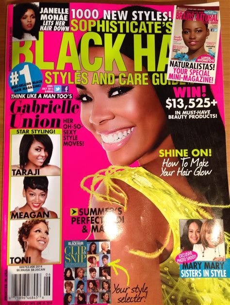 black hairstyles magazines 2014 in sophisticate s black hair magazine june july 2014 issue