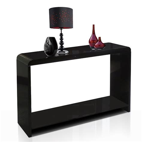 Black Gloss Console Table Toscana Black High Gloss Console Table Tos03 15295
