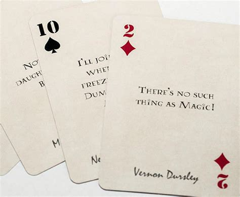 harry potter quote playing cards