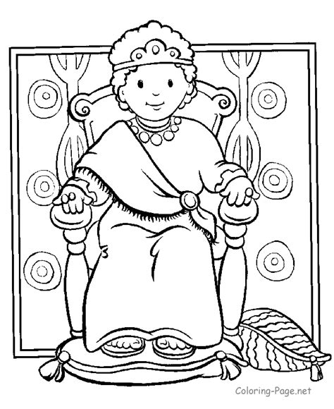 Bible Coloring Pages Boy King Coloring Page Net