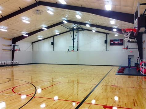 how much to build a basketball court in backyard prefab gymnatoriums gymnasiums cost designs general