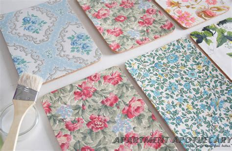 Decoupage Placemats - diy vintage placemats apartment apothecary