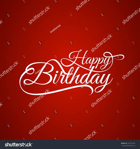happy birthday text design for facebook happy birthday text design background stock vector