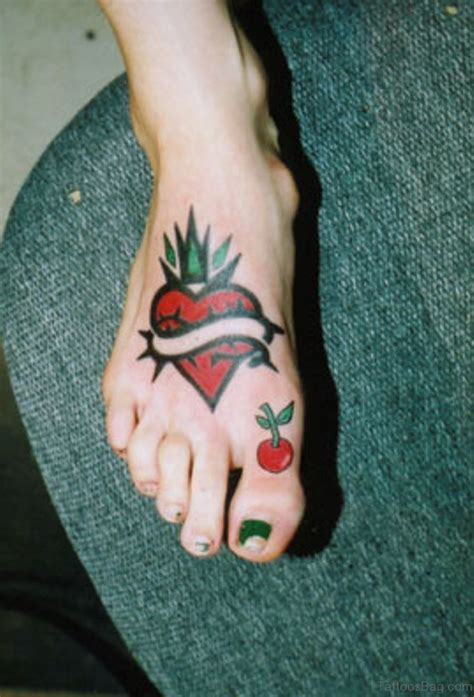 red heart tattoo 57 fabulous tattoos on foot