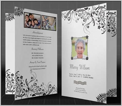 Free Funeral Program Templates For Microsoft Word Template Resume Exles Nbdlr1zmoa Funeral Program Template For Mac