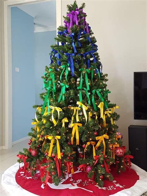 rainbow ribbon pride christmas tree rainbow christmas tree