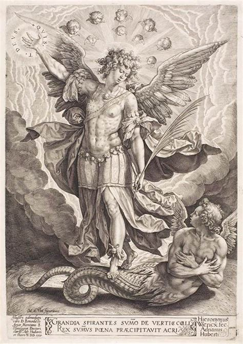 file hieronymus wierix st michael slaying the dragon