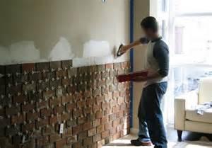 interior brick wall installation diy home interiors