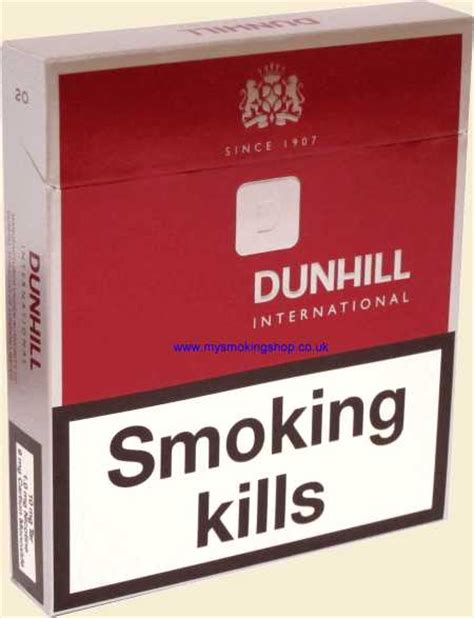 Dunhill International Menthol 20 dunhill cigarettes from my shop tobacconist