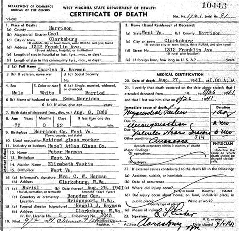 Upshur County Marriage Records Charles W Harman Morrison