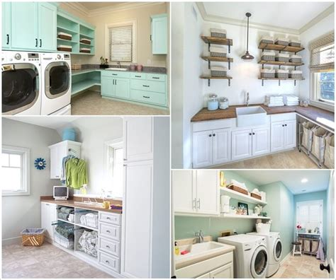 clever laundry room shelving ideas
