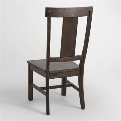 distressed wood kenzie dining chair set of 2 world market