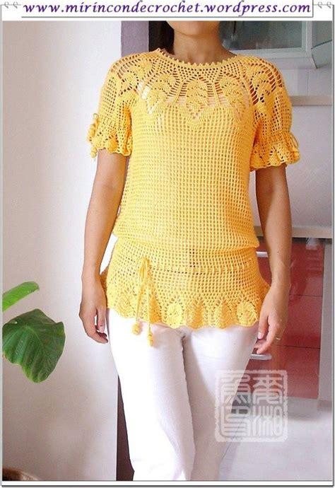 blusa crochet zigzag paso paso m 225 s de 10 ideas fant 225 sticas sobre blusas tejidas con