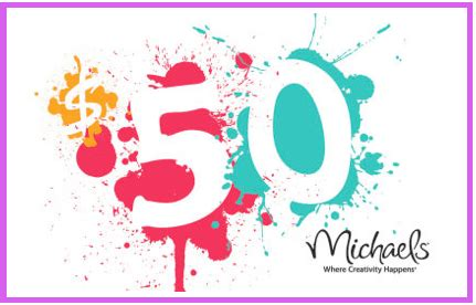 Michaels Craft Store Gift Card - love to craft win 50 gift card to michael s