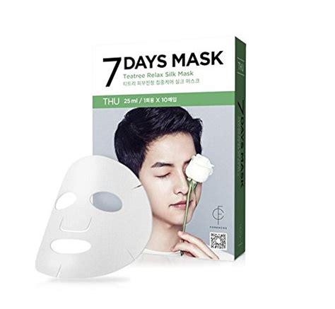 Forencos 7 Days Mask forencos song joong ki 7 days mask 10pcs korea imported black pearl brightening