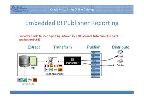 tutorial oracle bi publisher an introduction on bi publisher jd edwards integration