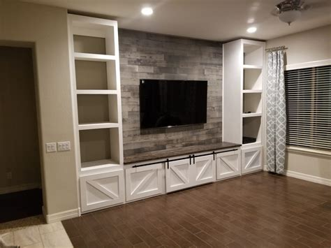 farmhouse entertainment center built tripledigit wood design