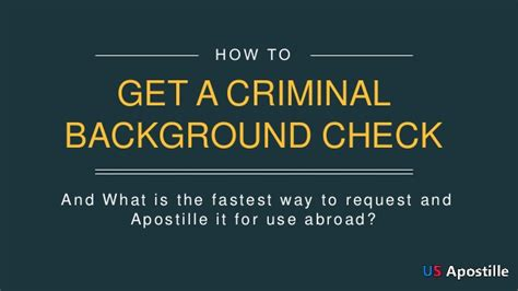 How To Get A Background Check In How To Get A Criminal Background Check