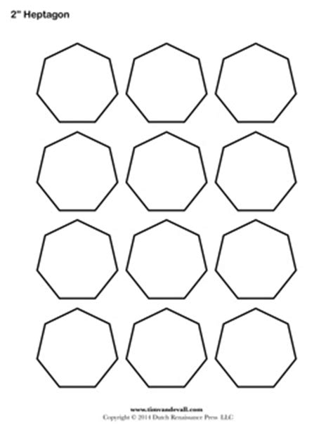 shape template printable heptagon templates blank heptagon shape pdfs