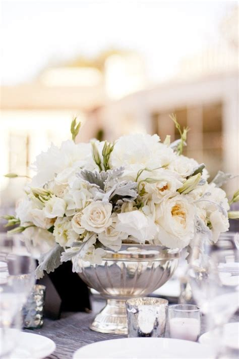 silver centerpieces for table pasadena wedding by events by heather ham picotte