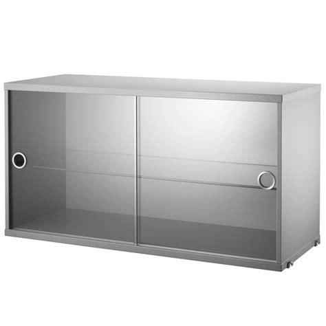 Sliding Door Display Cabinet String Display Cabinet Sliding Doors Kast Grey