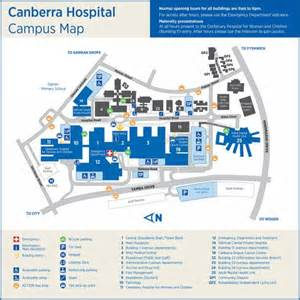 map of hospitals maps act health