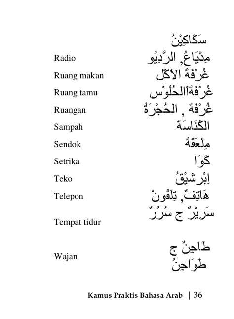 Kasur Lantai Bergambar kamus praktis bahasa arab