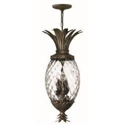 Pineapple Light Fixture Ceiling Pendant Light Traditional Pineaple Design Bronze Finish