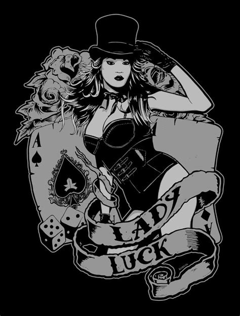 lady luck tattoo designs luck search drawing ideas