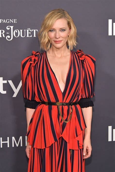 Catwalk To Carpet Cate Blanchett Carpet Style Awards by Cate Blanchett Invents Quot Circus Chic Quot In Givenchy At The