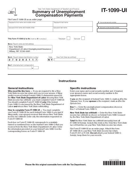 Payer S Federal Identification Number Lookup Form It 1099 Ui Fill In Summary Of Unemployment