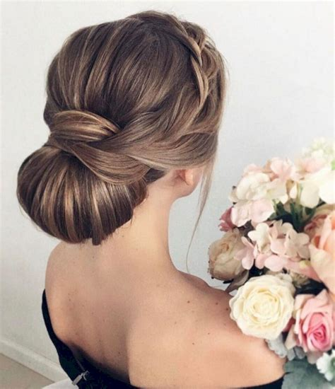 Wedding Hairstyles Chignon chignon wedding hairstyle montenr