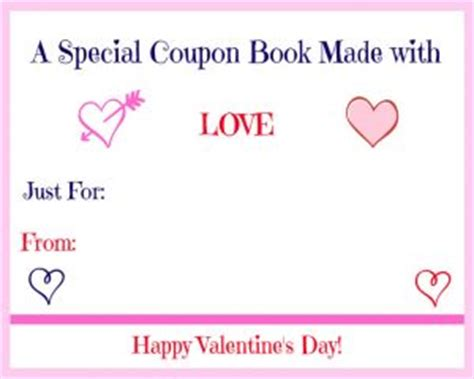 printable love coupon book cover free printable valentine s day coupon book