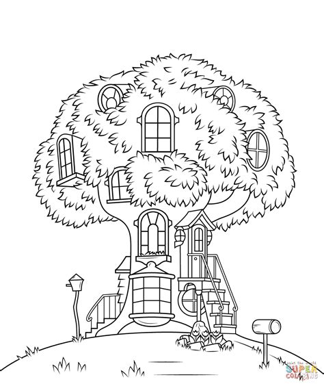 coloring page magic tree house free tree house coloring pages az coloring pages