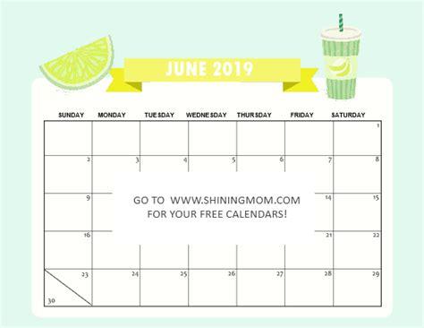 printable june  calendars  awesome designs