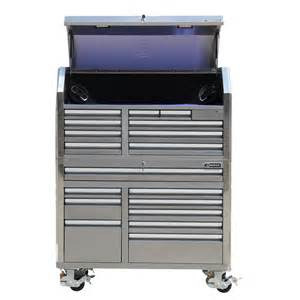 cabinet tops at lowes kobalt 18 drawer stainless steel tool cabinet lowe s canada