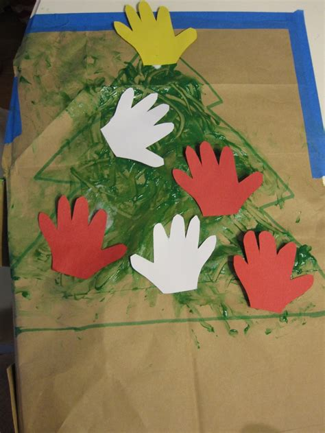 handprint christmas tree baby s 1st christmas craft