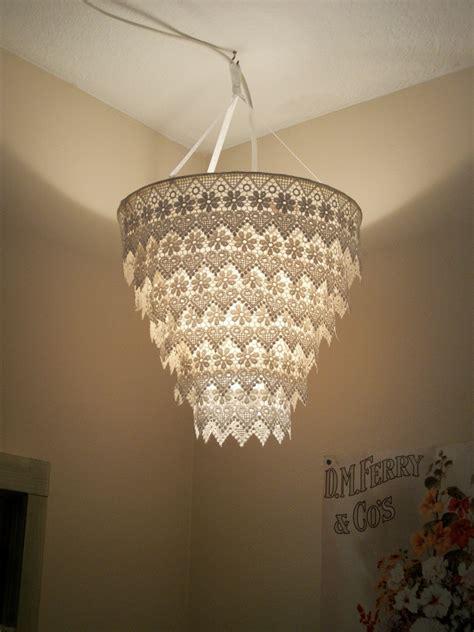 venise lace faux chandelier pendant l shade ivory