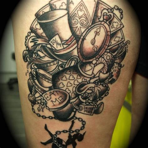alice in wonderland tattoos 1000 ideas about mad hatter on