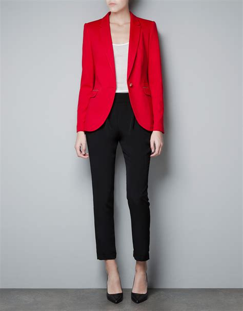 zara porte di roma zara ponte di roma blazer with patches in lyst
