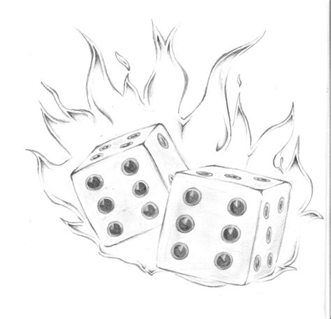 dice on fire by christie167 on deviantart